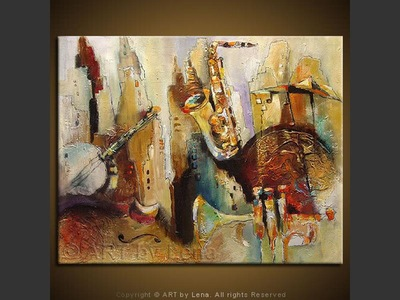 Sounds of Manhattan - contemporary painting