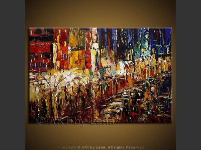 The Promenade - original canvas painting by Lena