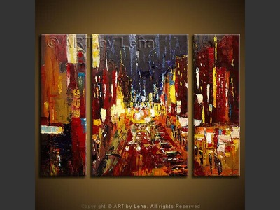 Midtown Avenue - original canvas painting by Lena