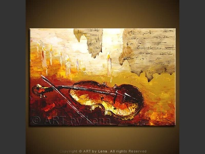 Andante for Viola - original canvas painting by Lena