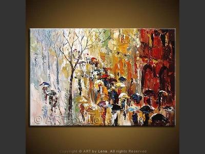 Paris In Rain - modern artwork