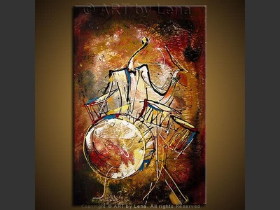 Jazz Drummer - modern artwork