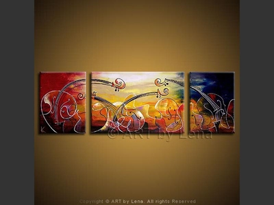 Fantasy for Strings - contemporary painting