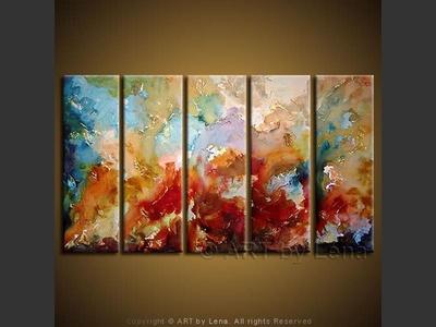 Rainbow Heavens - original painting by Lena Karpinsky