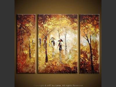 Golden Rain - wall art