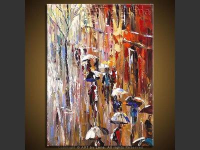 Temps de pluie - modern artwork