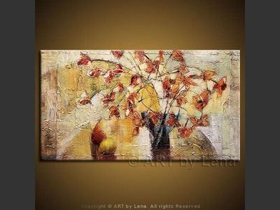 Autumn Bouquet - original canvas painting by Lena