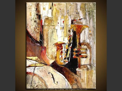 Sax and Trumpet - wall art