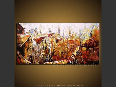 The Bremen Town - contemporary painting