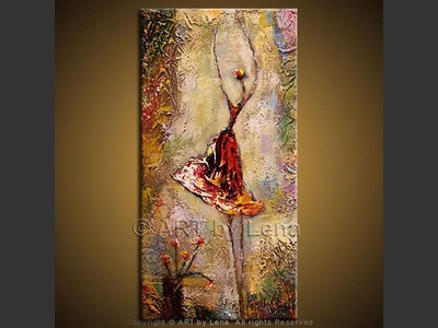 Giselle - original canvas painting by Lena