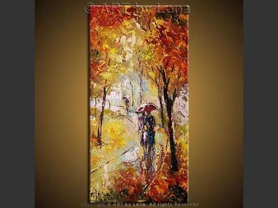 Our Golden Autumn - original painting by Lena Karpinsky