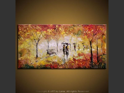 In The Park - contemporary painting