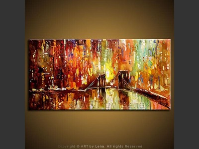 Megapolis Nights - contemporary painting