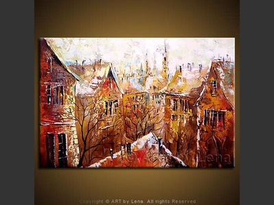 The Town of Fairy Tales - original canvas painting by Lena