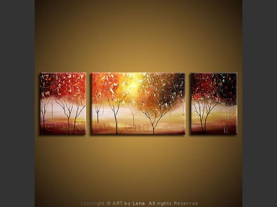 Apple Blossom Drive - original canvas painting by Lena