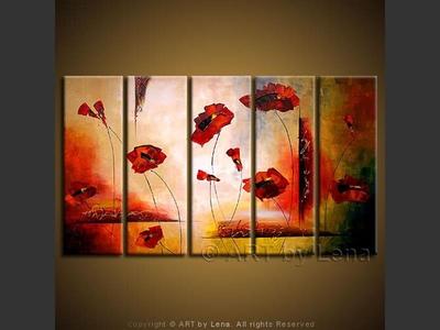 Surreal Poppy Ikebana - wall art