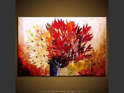 Flame Bouquet - original painting by Lena Karpinsky