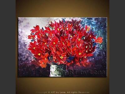 Night Flame Bouquet - modern artwork