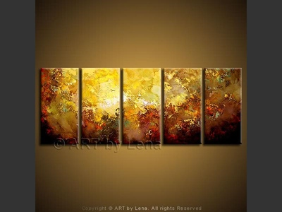 Galactic Sunset - modern artwork