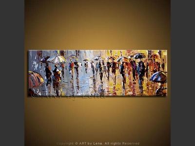 City Rain Reflections - art for sale