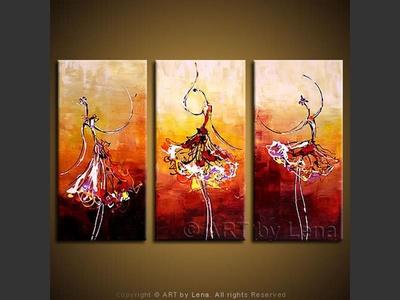 En Pointe Trio - home decor art
