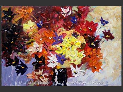 Purple Morning - original painting by Lena Karpinsky