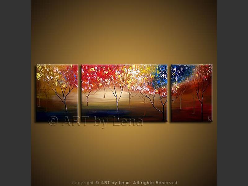 Pleasant Ridge - original canvas painting by Lena