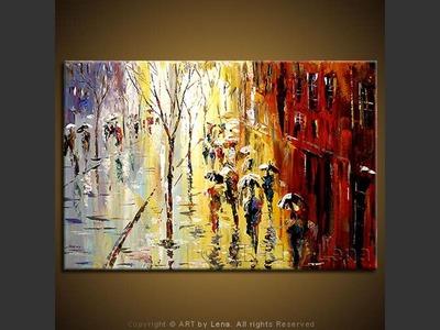 Autumn In Paris - contemporary painting