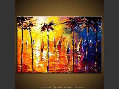 Palm Beach Sails - modern artwork