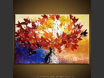 April Bouquet - contemporary painting