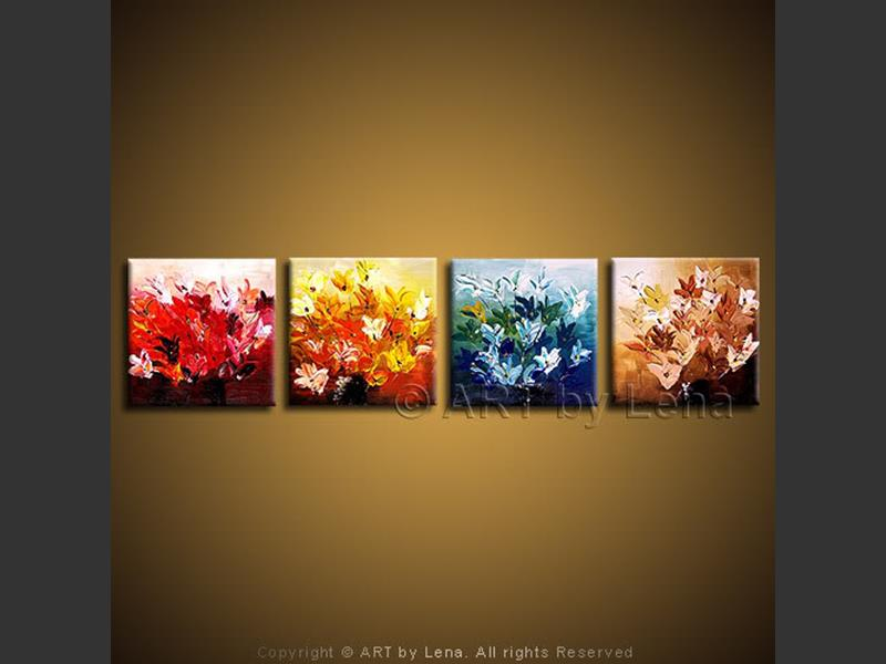 Seasons of Love - original canvas painting by Lena