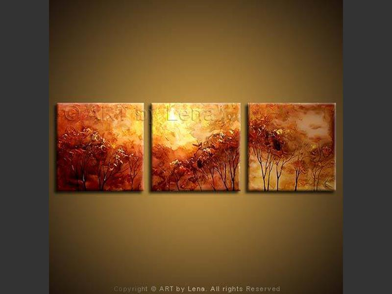 Sunset Forest - contemporary painting
