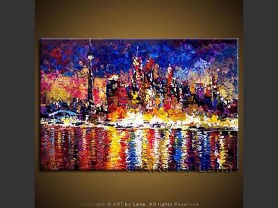 Toronto Skyline - home decor art