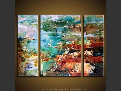 Lily Pond: Evening - contemporary painting