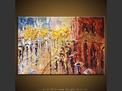 Boulevard Montmartre - contemporary painting