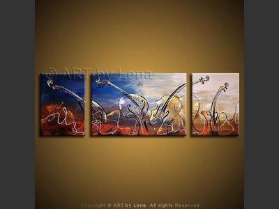 Modern Symphony - original canvas painting by Lena