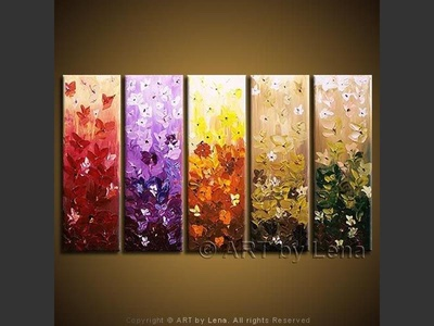 Wonderful World of Flowers - contemporary painting