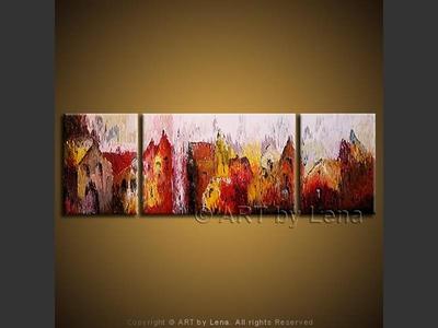 Mirage Town - original painting by Lena Karpinsky