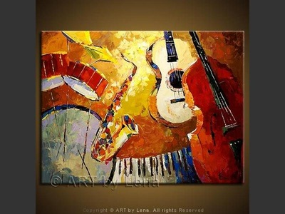 Country Jazz - original painting by Lena Karpinsky