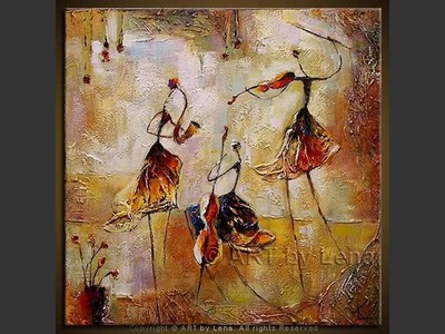 Les petits musiciens - contemporary painting