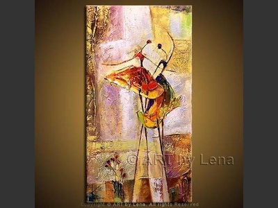 Day and Night - original painting by Lena Karpinsky