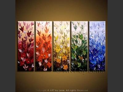 Floral Rainbow - modern artwork