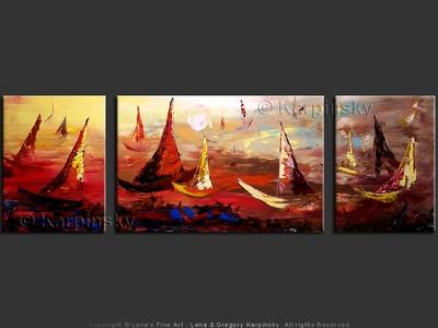 Sky Sailors - original painting by Lena Karpinsky