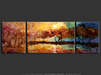 Sunset - contemporary painting