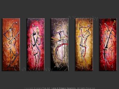 Swing Era - original canvas painting by Lena