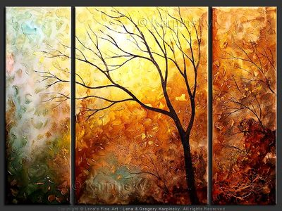 Late Autumn Park - wall art