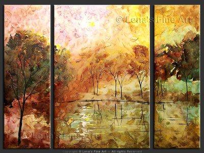Quiet Lake - original painting by Lena Karpinsky