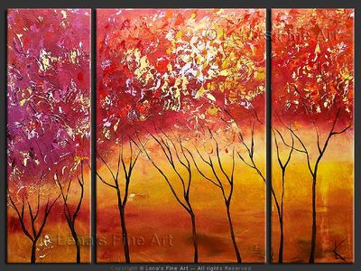Autumn Blossom - contemporary painting