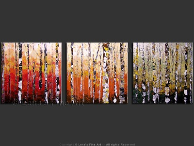 Aspen Forest - contemporary painting