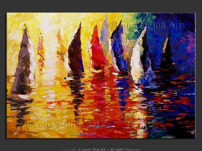 Pacific Yachting - contemporary painting